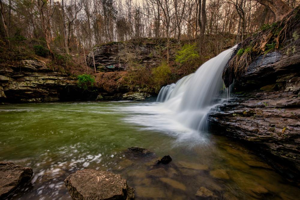 Eyes over Mardis Mill Fall - Alabama waterfall fine-art photography