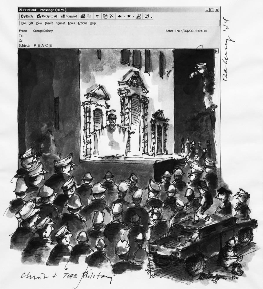 Christ & Military Print