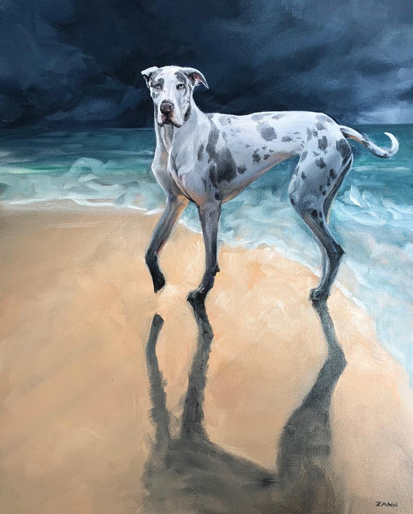 Dolly Dares The Weather Art | Van Isle Dog Art