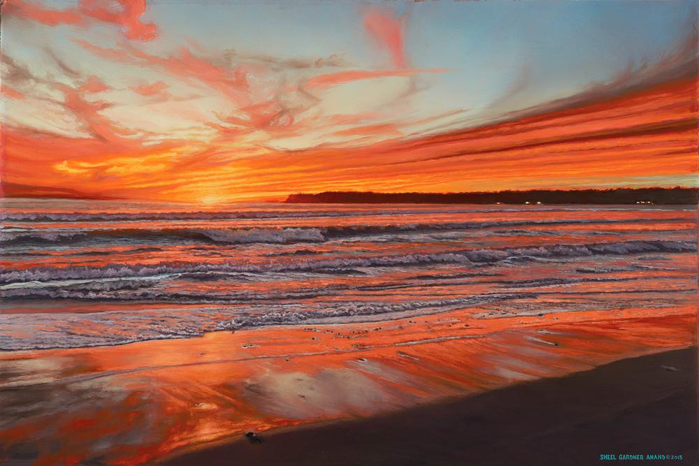 Coronado Christmas Sunset  Art | The Huntington Studio