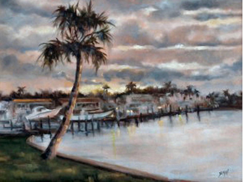 Lagoon Sunrise, From an Original Oil Painting