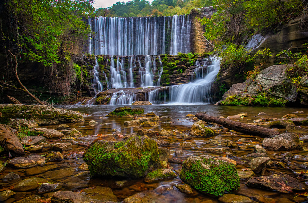 Mirror Lake waterfall - Arkansas fine-art photography prints