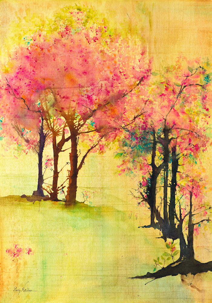 A Touch of Spring, From an Original Watercolor Painting