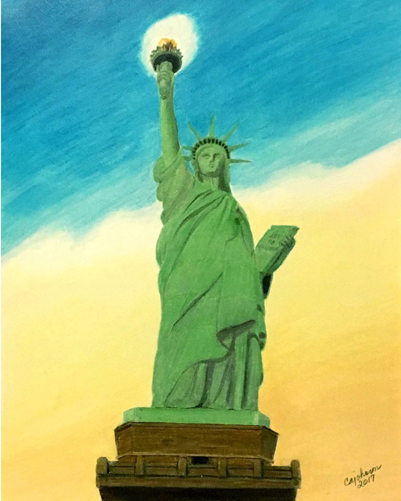 Lady Liberty, From an Original Colored Pencil Painting