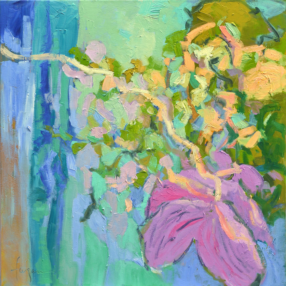 Abstract Orchid Painting, Fine Art Print by Dorothy Fagan