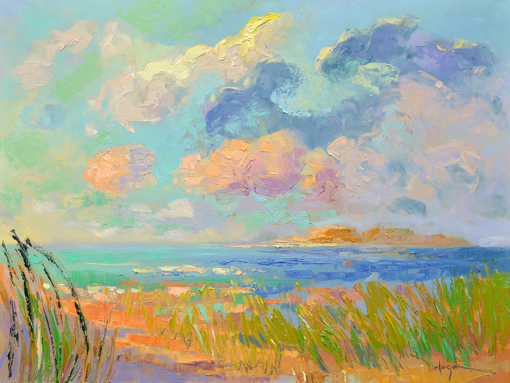 Beautiful Large Beach Painting, Art Print Canvas by Dorothy Fagan