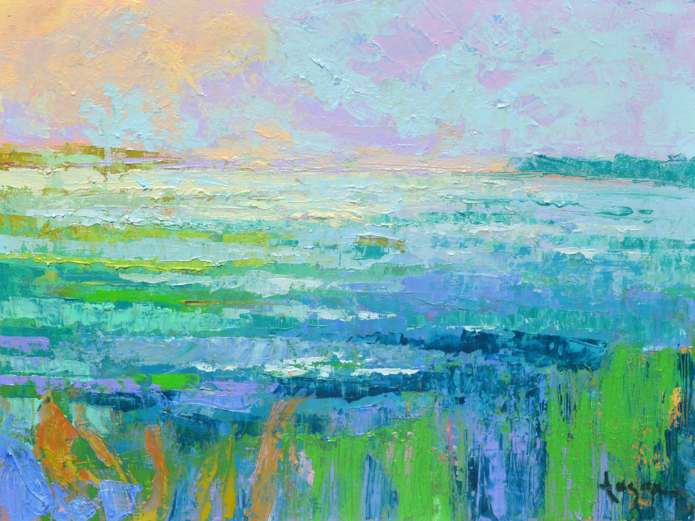 Water View Painting, Canvas Art Print by Dorothy Fagan