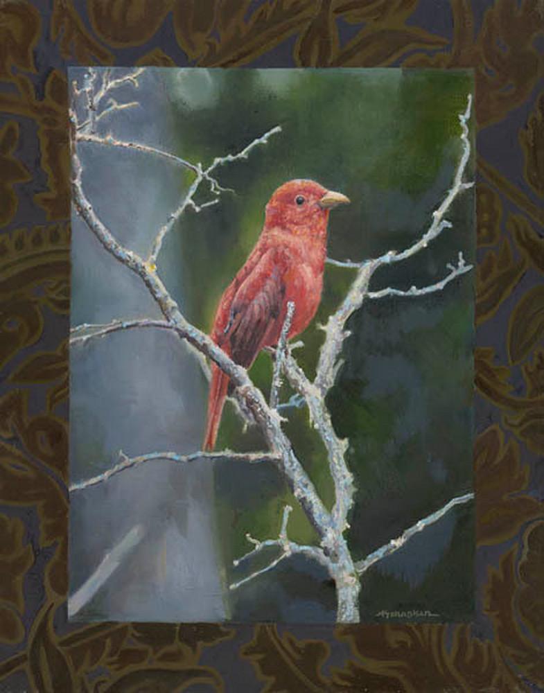 Schapker painting bird