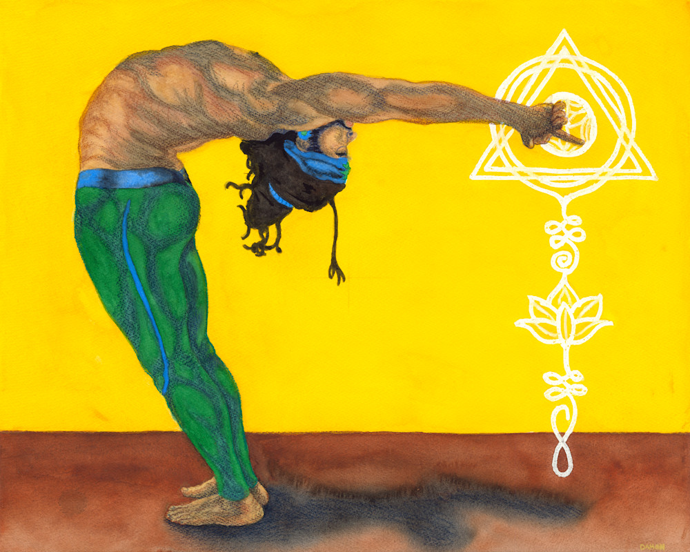 Standing Backbend Art | Damon Powell - Artist & Theologian