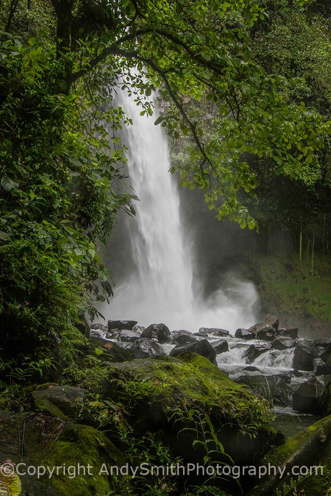 fine art photograph of La Fortuna waterfall in Costa Rica