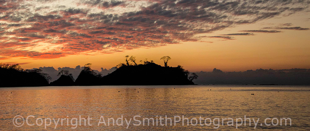 fine art photograph of Sunset over the beach at Punta Leone, Costa Rica