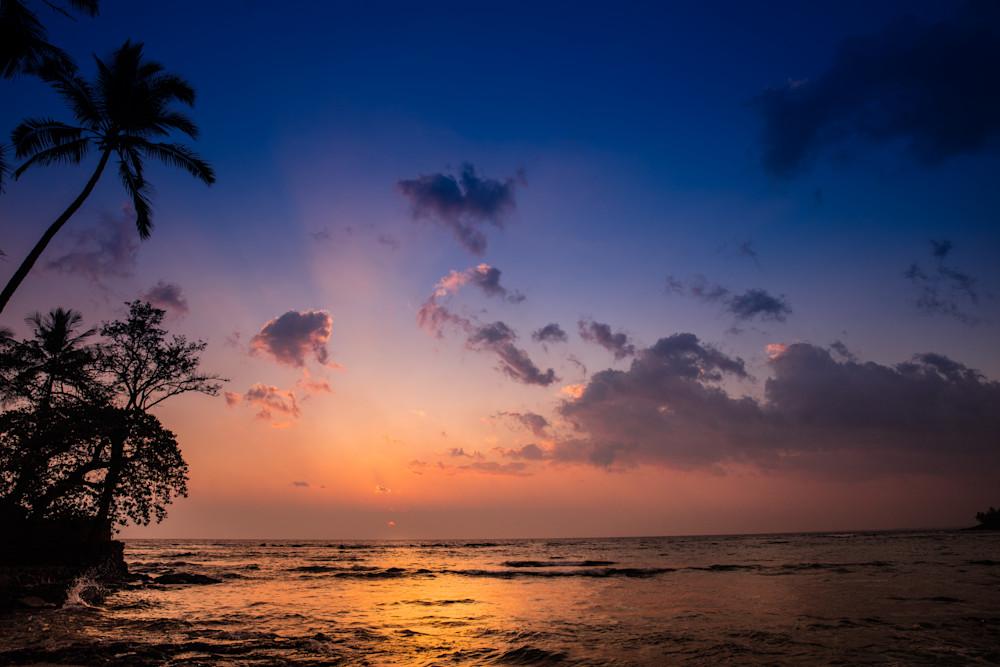 Hawaiian, sunset, ocean
