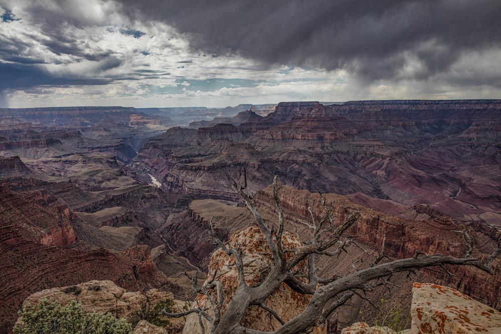 Grand canyon, rain, showers, Colorado river