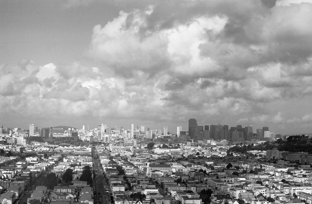 San Francisco On A Cloudy Day 2 Photography Art   David Louis Klein