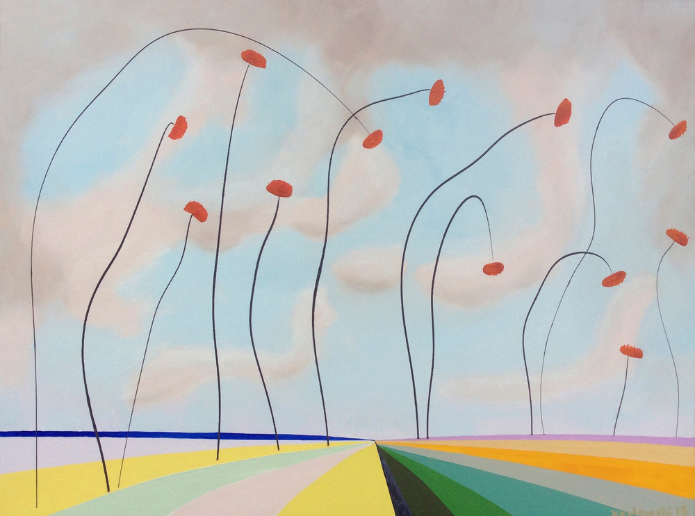Poppy Family And Friends At The Beach Art | Maciek Peter Kozlowski Art