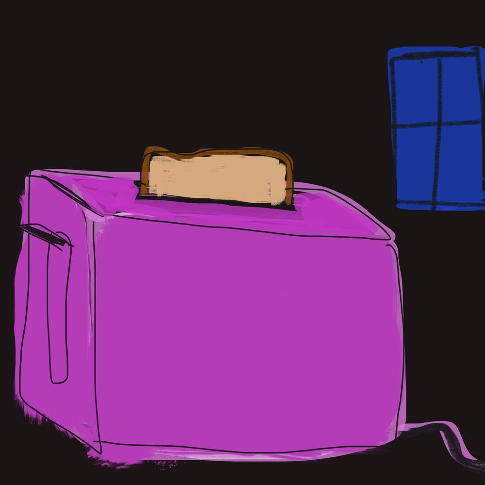Purple Toaster Art | stephengerstman