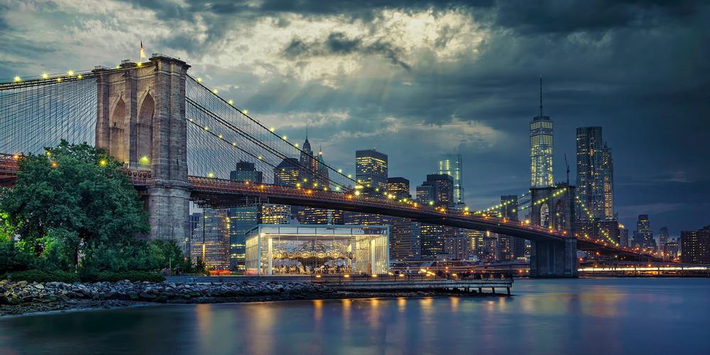 Jane's Carousel Under The Brooklyn Bridge Photography Art | Studio 221 Photography