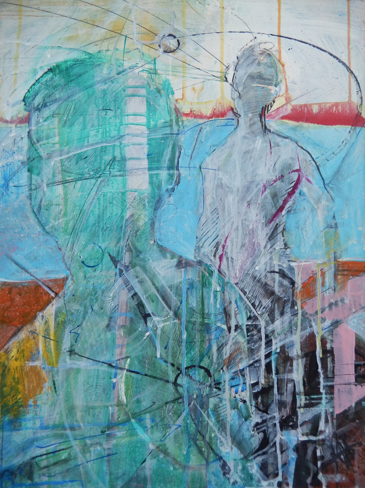 Transference painting by Rick Wedel