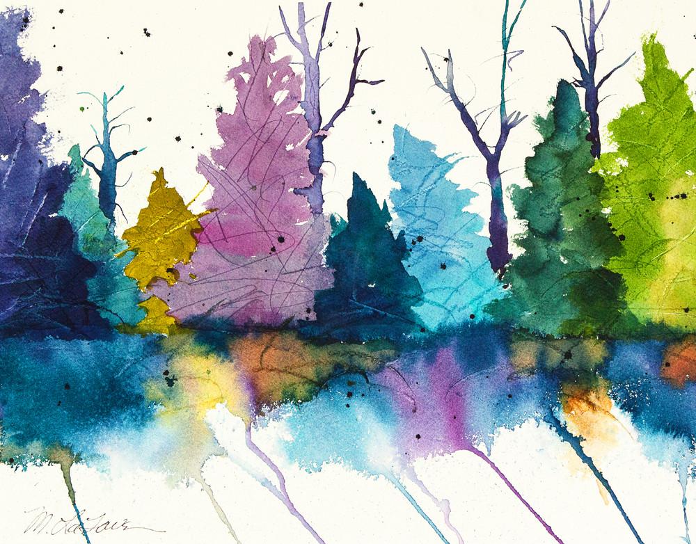 Rainbow Forest Art | Mickey La Fave