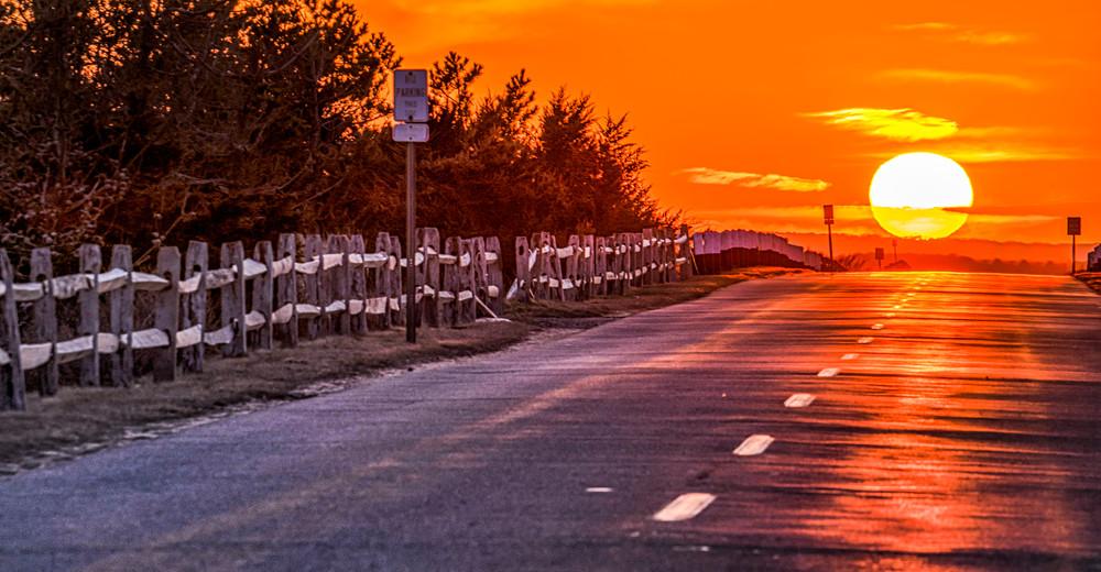 Atlantic Ave Sunset Art | Michael Blanchard Inspirational Photography - Crossroads Gallery
