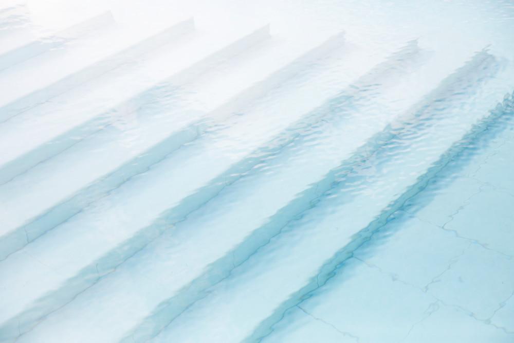 Blue Stairs  Photography Art | Belathée Fine Arts by Belathée Photography