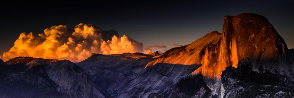 Fine Art Print | Panoramic of Half Dome at Sunset