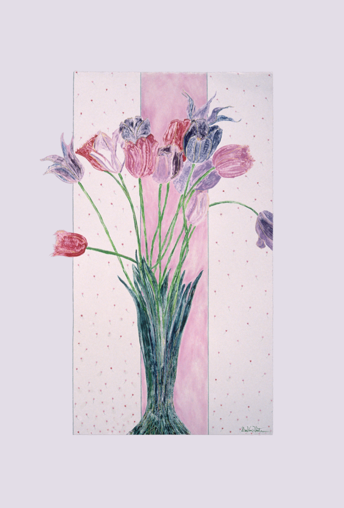 Crispa - Monotype Tulip Painting