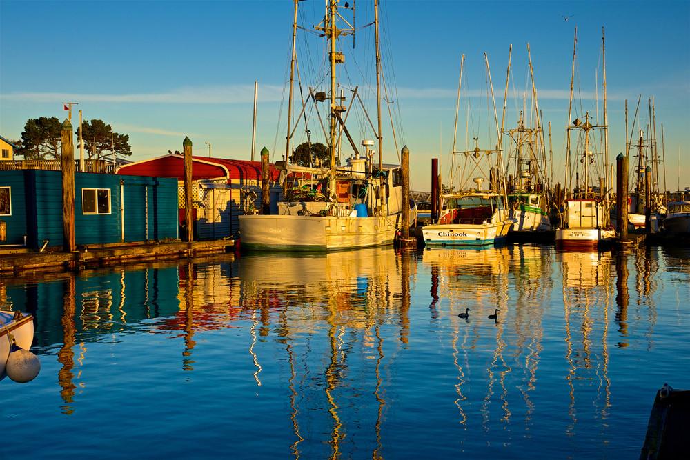 Charleston Fishing Boats, Blue Photography Art   Shaun McGrath Photography