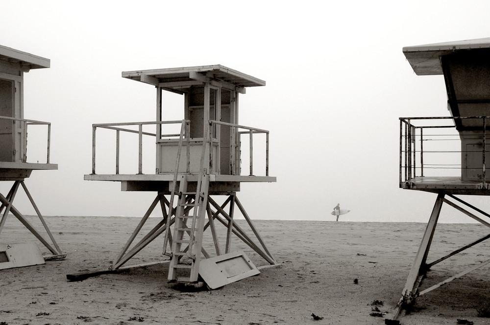 Vintage Lifeguard Stands & Surfer Photography Art | Shaun McGrath Photography