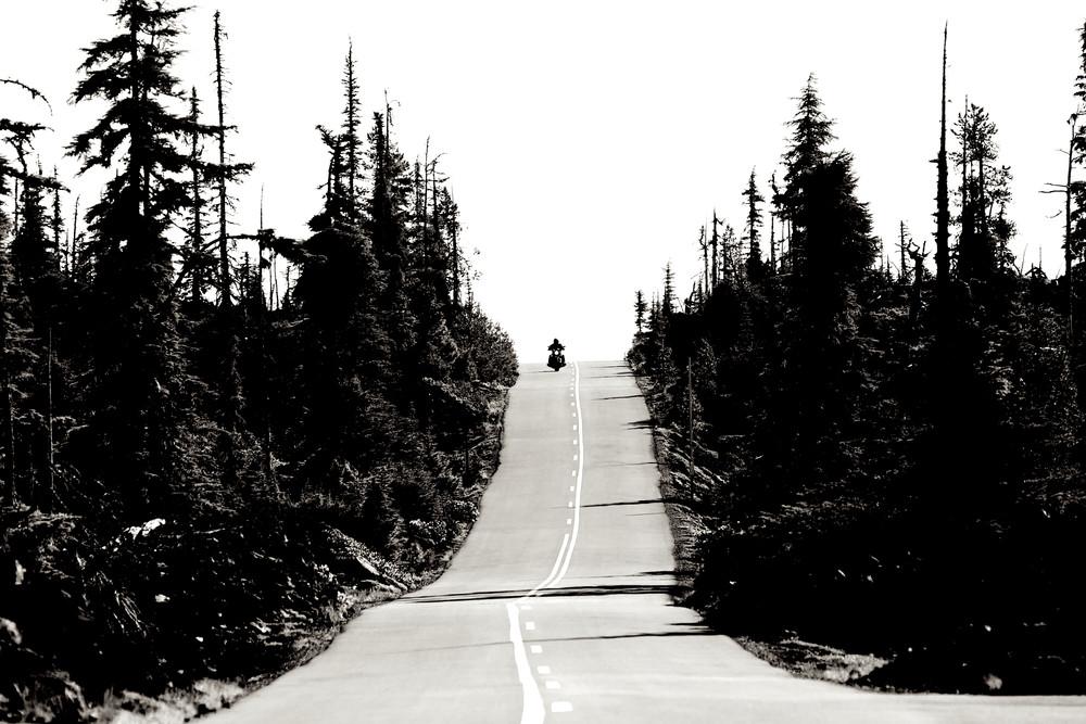 Motorcycle On Mc Kenzie Pass Photography Art | Shaun McGrath Photography