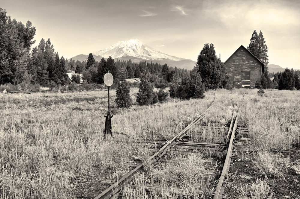 Mt Shasta From Mc Cloud Rr Tracks California Photography Art | Shaun McGrath Photography