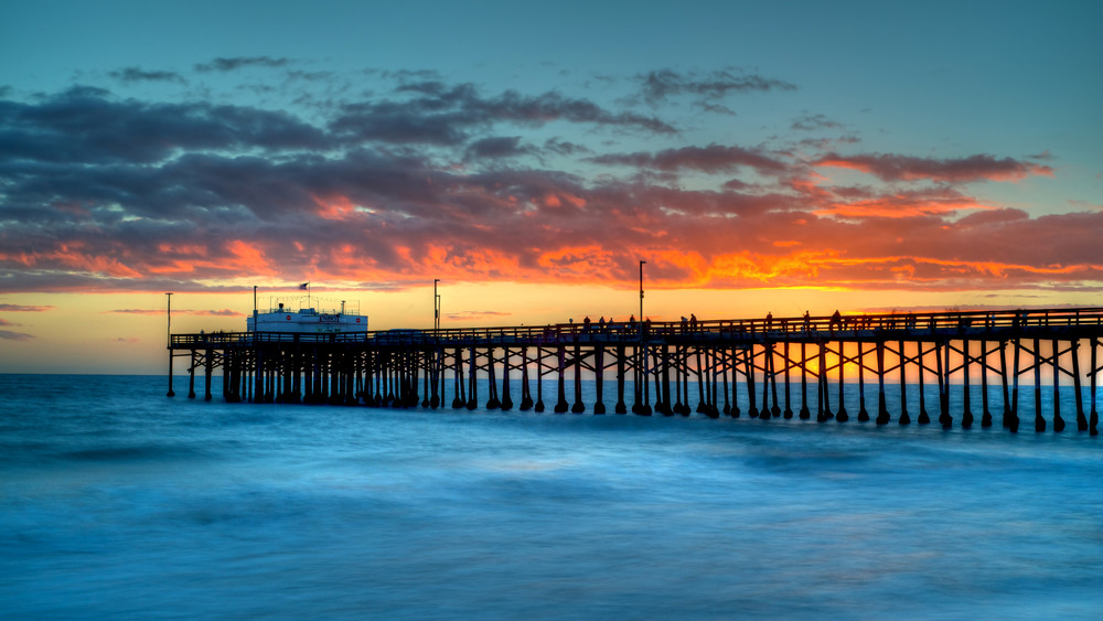Balboa Pier Newport Beach California Sunset