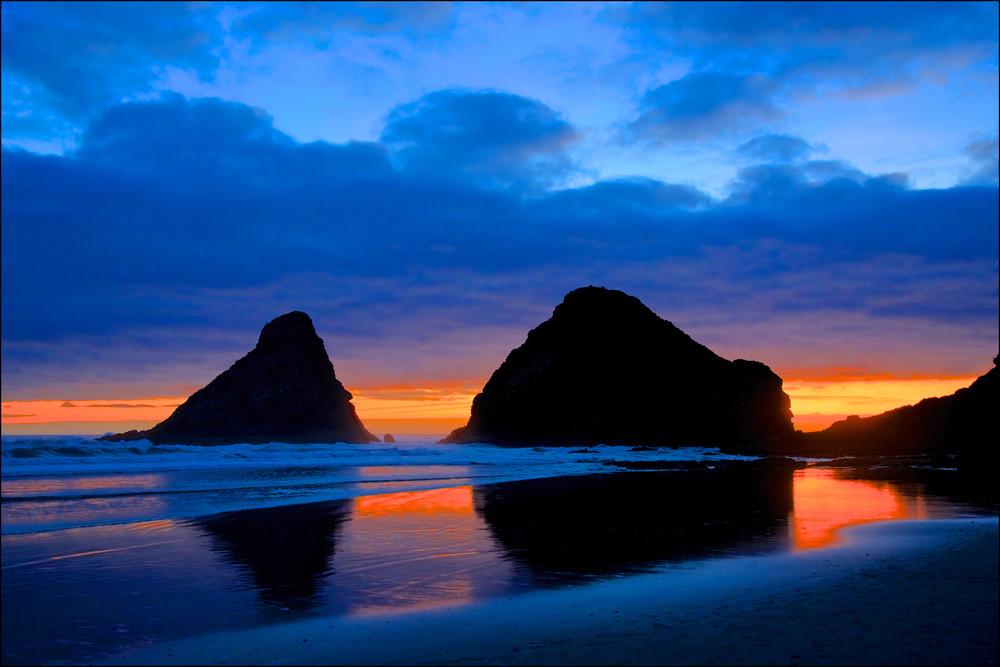 Blue And Orange Sunset Photography Art | Shaun McGrath Photography