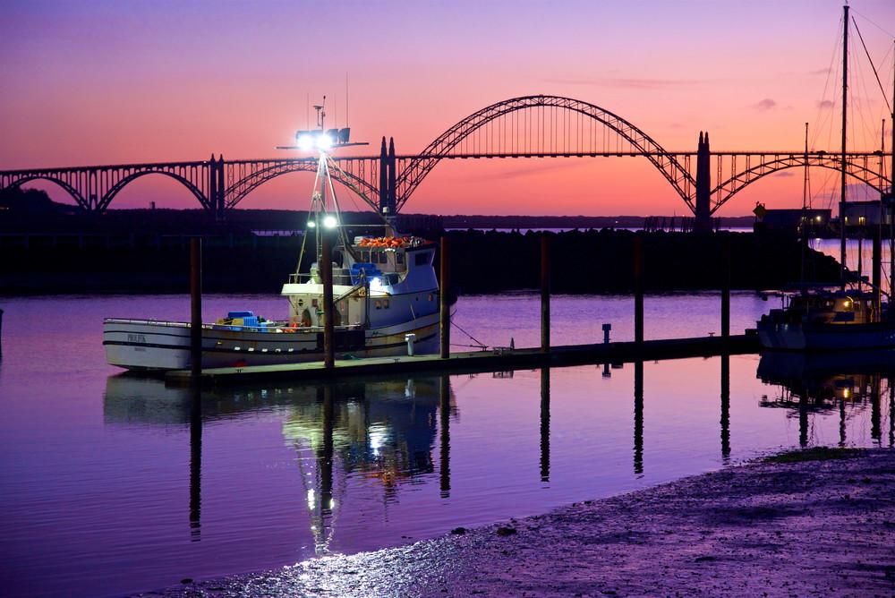 Yaquina Bay Bridge Sunset Photography Art   Shaun McGrath Photography