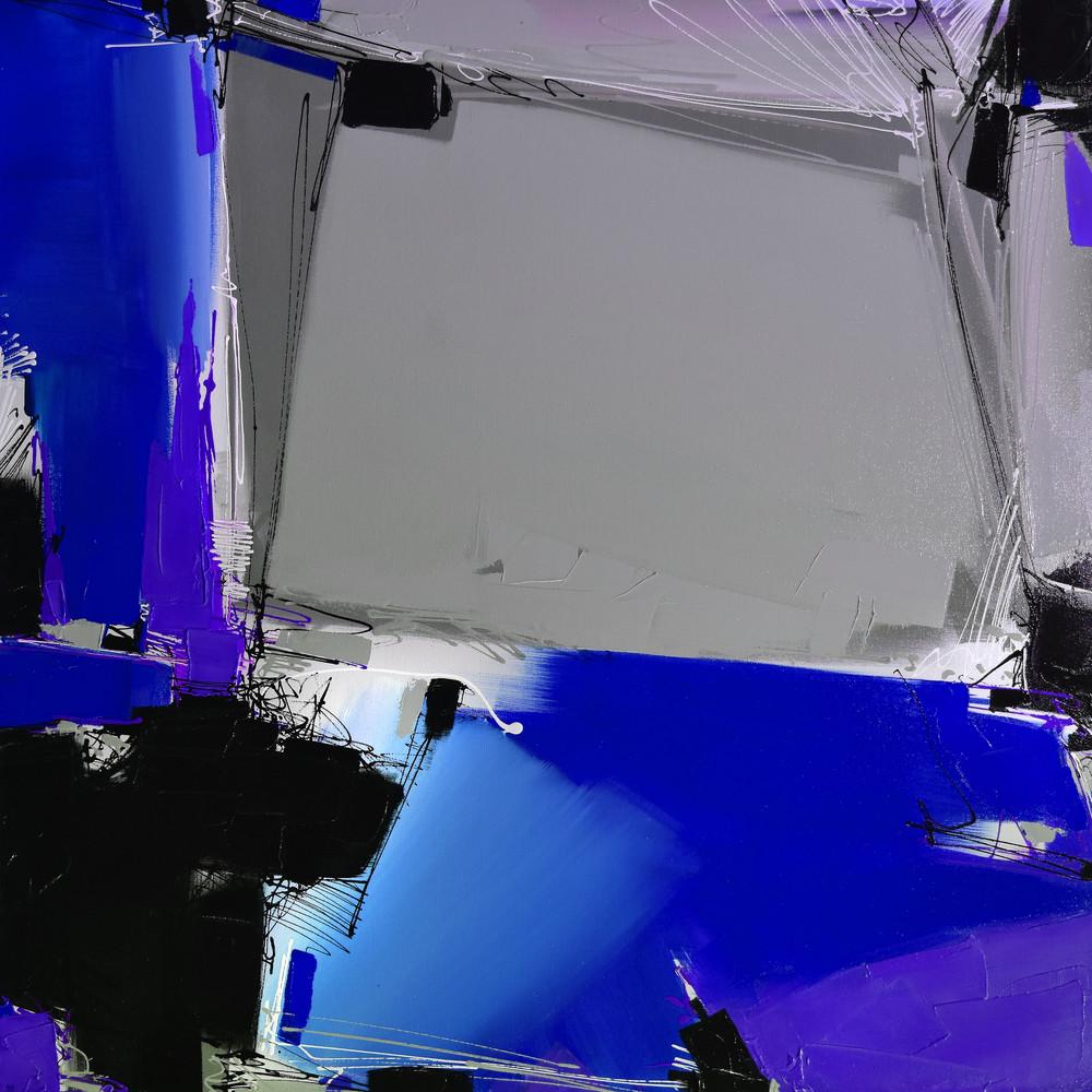 Quartertone In Cobalt Art | Michael Mckee Gallery Inc.