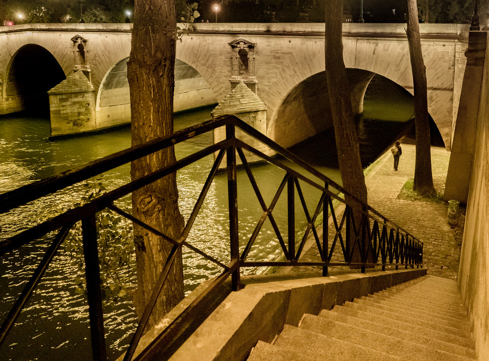 Walking Along The Seine, Paris/sold by Ben Asen Photography