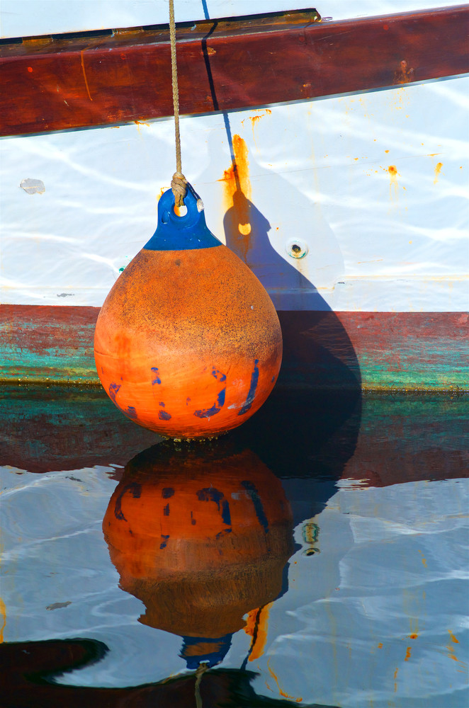 Boat Bumper Reflection Photography Art | Shaun McGrath Photography
