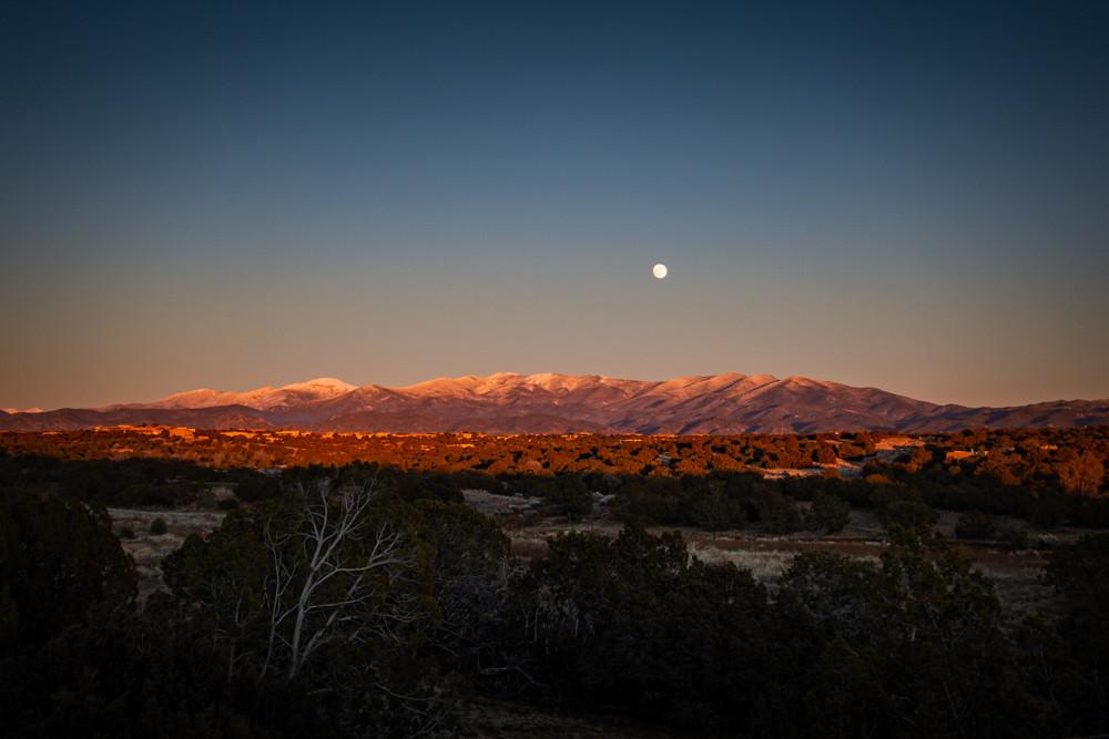 Moonrise above Sangre De Christo Mountains