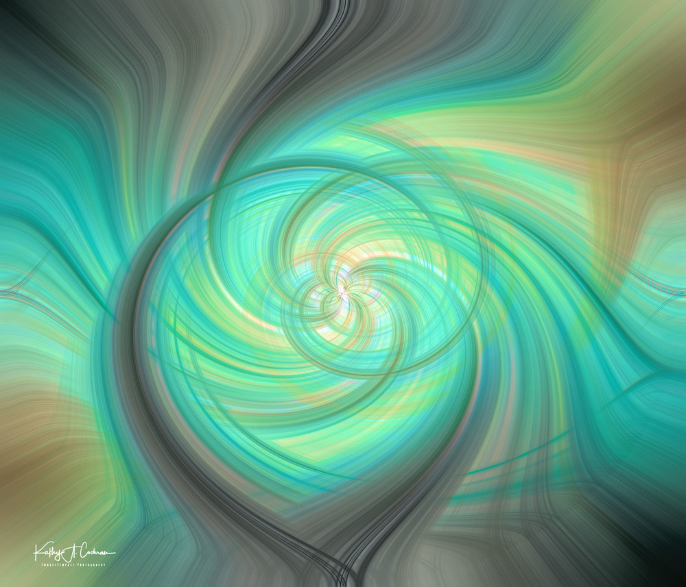 Green Fog Swirl Photography Art | Images2Impact