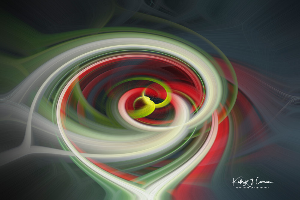 Red White Grey Twirl Photography Art | Images2Impact