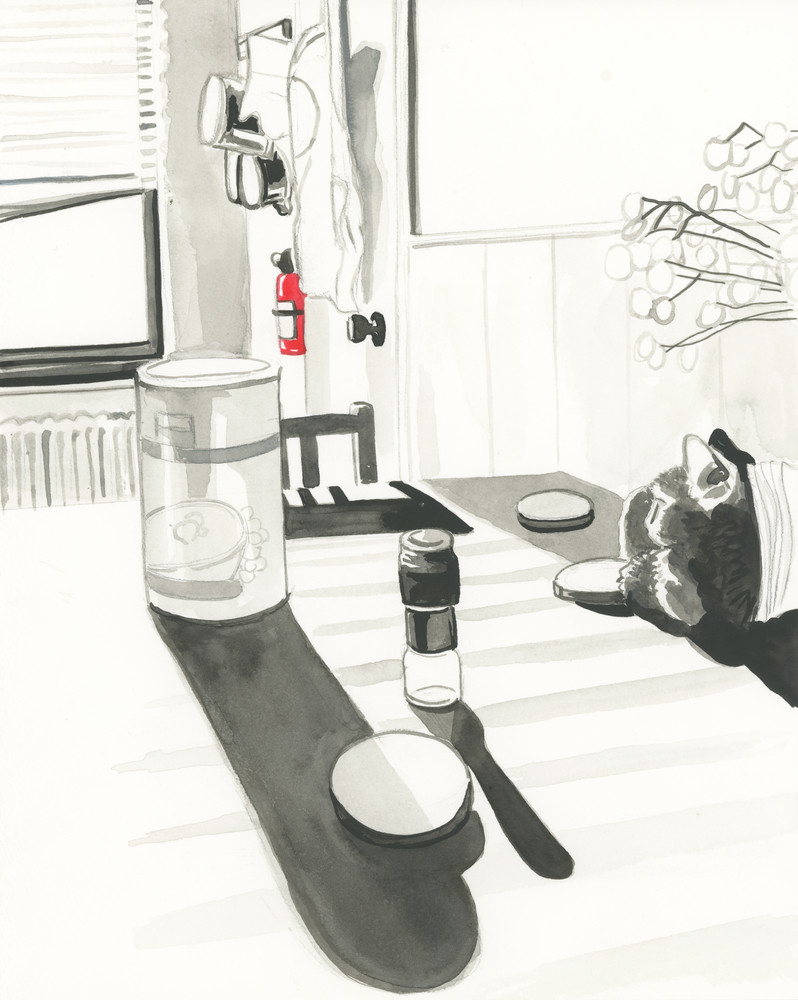 Morning At The Kitchen Table Art | Wet Paint NYC