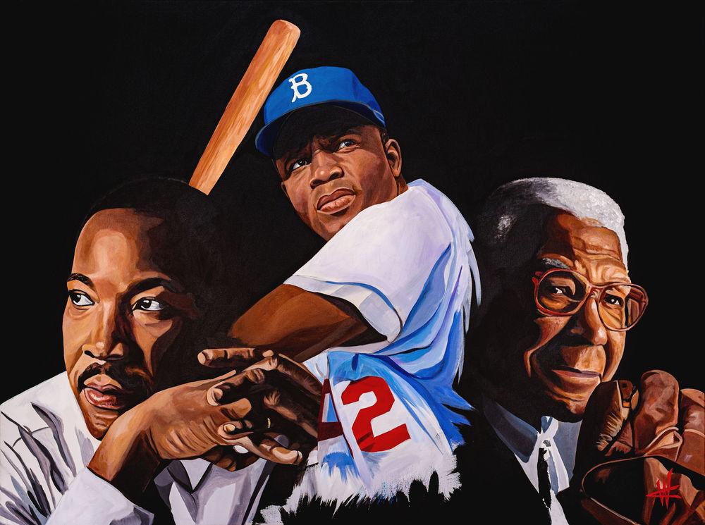 Celebrating Baseball & Black History. Open Edition Art | Cortney Wall Fine Art