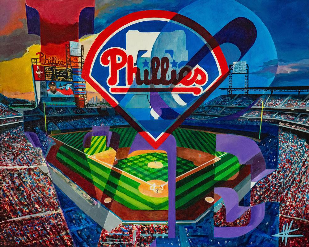Phillies Love. Open Edition Art   Cortney Wall Fine Art