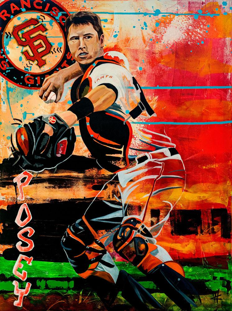 """""""Posey"""" (Buster Posey) Art   Cortney Wall Fine Art"""