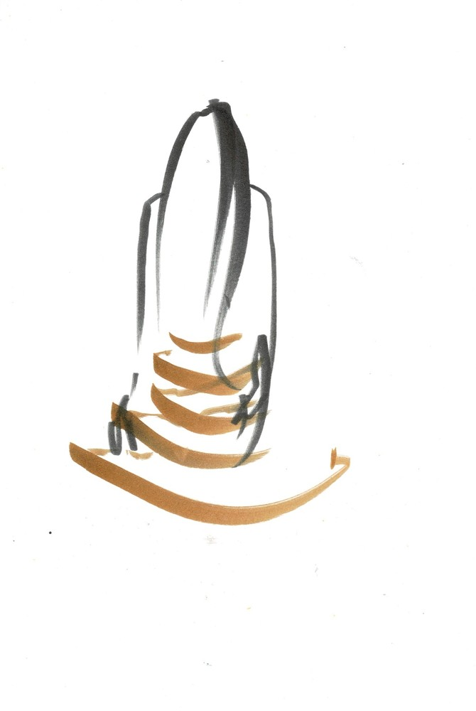 Wooden Skirt Drawing 1 (Eleonora), 2019 Art   larahanson