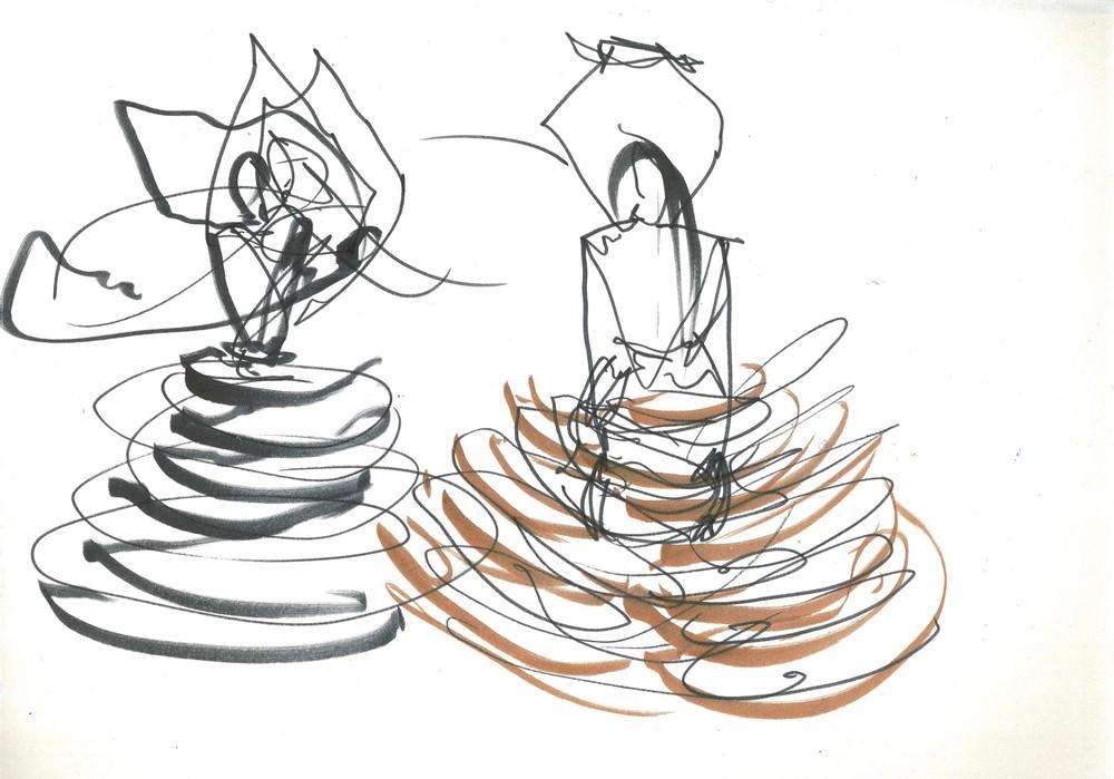 Wooden Skirt Drawing 6 (Eleonora), 2019 Art   larahanson