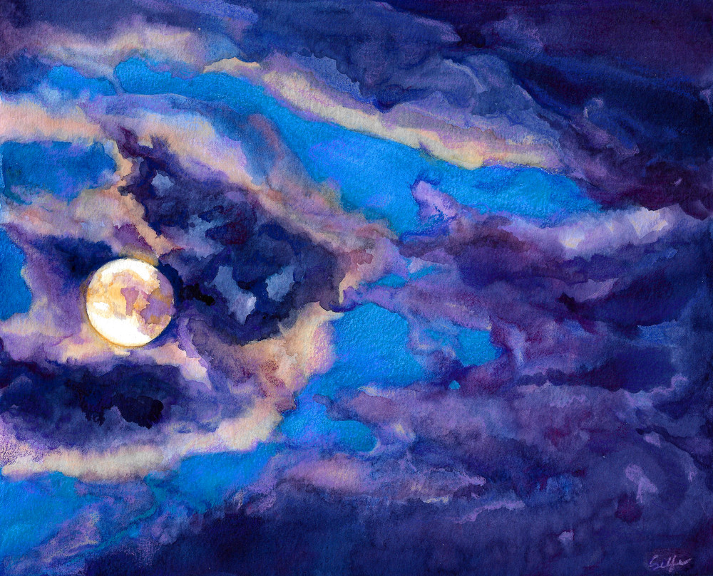Moonlit | Watercolor