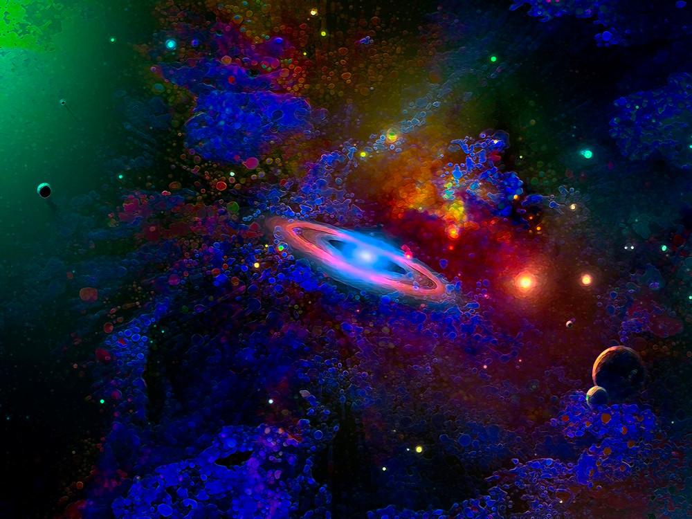 Space Fantasy Art - Space Drifting - Don White Art Dreamer