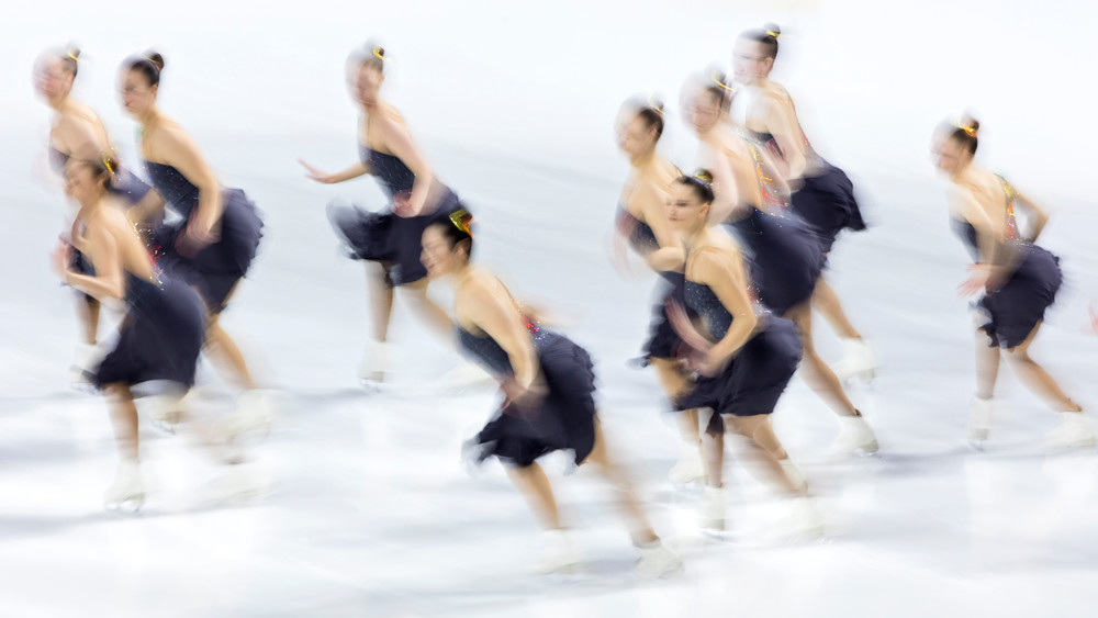 Abstract Synchro Nationals Senior Long Crystallettes Photography Art | Katherine Gendreau Photography