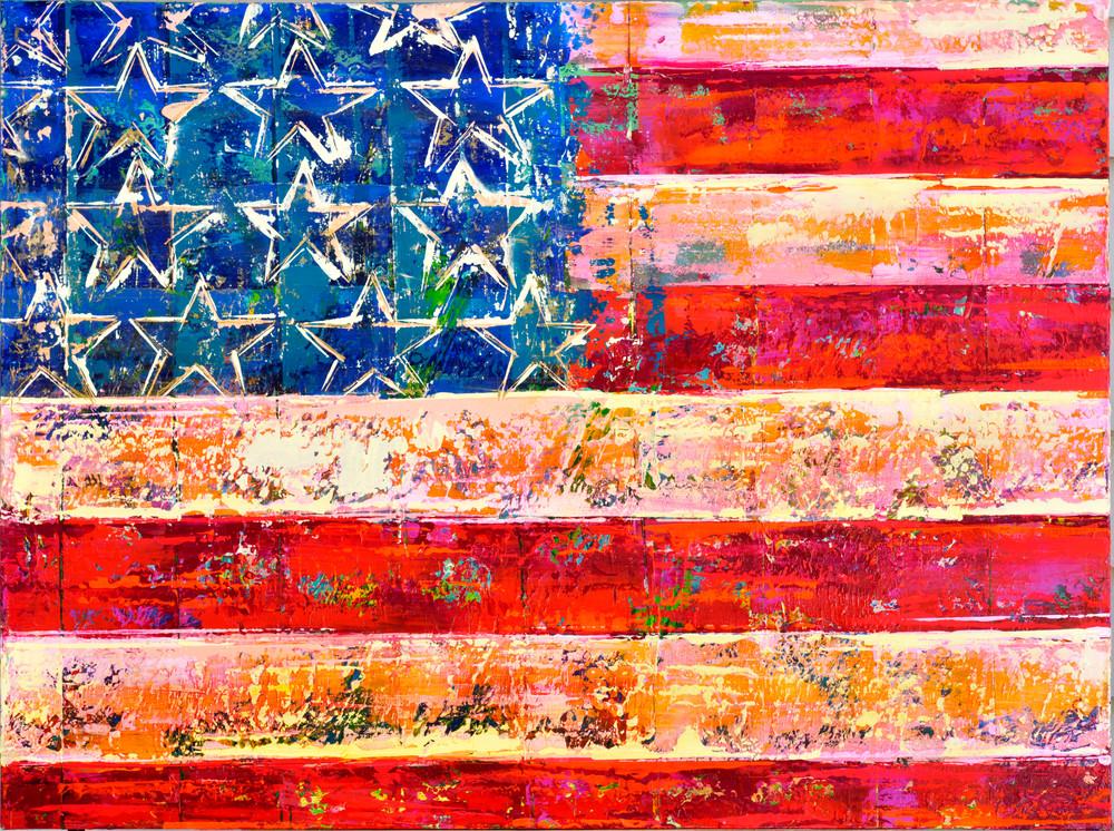 Usa Flag Art | benbonart